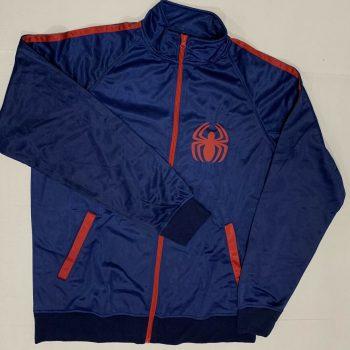 Marvel Avengers Spiderman Logo Full Zip Blue Jacket