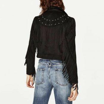 Zara Fringe Jacket Size Small