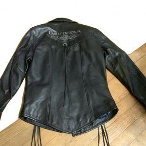 Harley Davidson XSW Leather Jacket MIRAGE Fringe Vintage USA