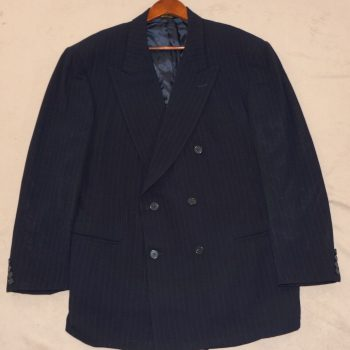 42R JACK BLACK Blazer Men 42 Navy DB Martin Greenfield Suit Jacket