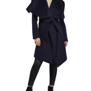 NWT PAUL COSTELLOE BLACK LABEL WRAP PEA COAT TRENCH COAT JACKET SOLD OUT!