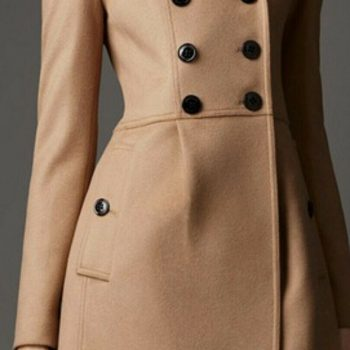 2021 New Brown Women Wool long Trench coat Double Breasted expedited shipping