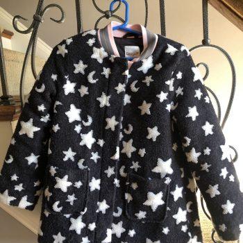 Girl's Cat & Jack Gray/White Star/Moon Jacket
