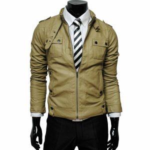 Men Pure Leather Jacket Coat Genuine Lambskin Bomber Bike Zipper Tailor Color 3
