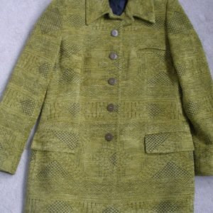 Ladies Vintage Paul Costelloe Green Short Coat Jacket Size 12 - 14 (P72)Listed for charity