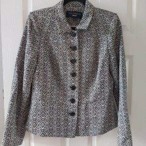 Paul Costelloe Button Up Lined Jacket - Size 14
