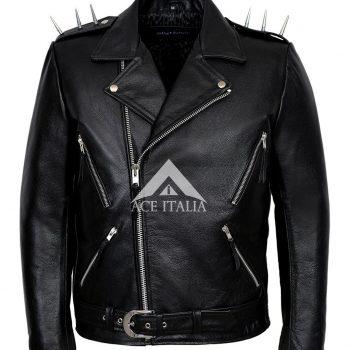 Ghost Rider Men's Black Movie leather Jacket Worn By NICOLAS CAGE Brando biker