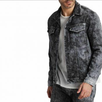 J Brand Men's Ghoste Acamar Washed Denim Jacket, XL