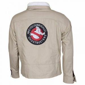 GHOST BUSTERS Movie Mens COTTON JACKET WITH FUR COLLAR - BNWT