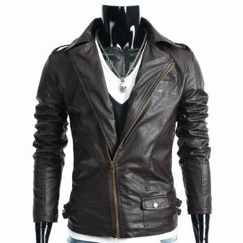 Men Pure Leather Jacket Coat Genuine Lambskin Bomber Bike Zipper Tailor Color 5