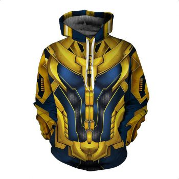 The Avengers Thanos Golden 3D Printed Hoodie