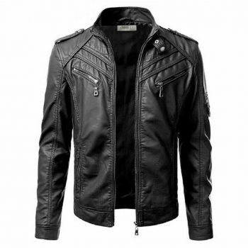 Real Bomber Style Classic Pure Leather Jacket Rocky Mountain Riding Western Coat