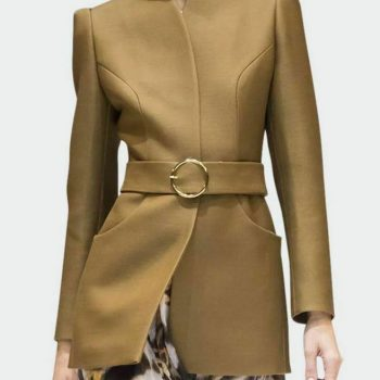 New Brown Belted Women Wool Fashion Trench coat Sale with expedited shipping