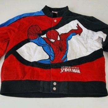 SPIDERMAN Spider Sense Marvel Denim Jean Jacket