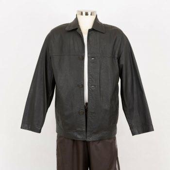 Leather Lightweight Shirt Jacket Mens Size 5XL