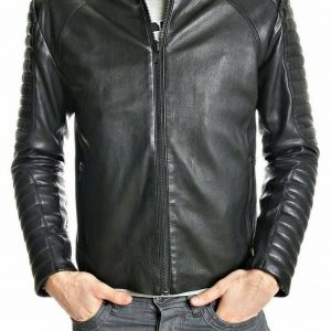 Men Designer Leather Jacket Lambskin Slim Fit Motorcycle Biker Scuba Jacket NF21