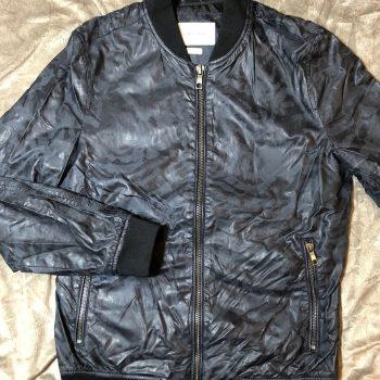 Zara Man Faux Leather Camouflage Jacket, Size M