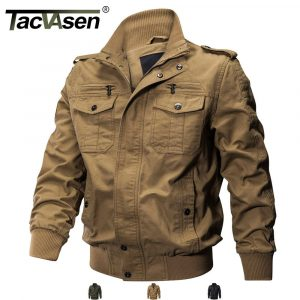 TACVASEN Mens Tactical Jacket Military Cargo Pilot Coats Bomber Jackets Outwear