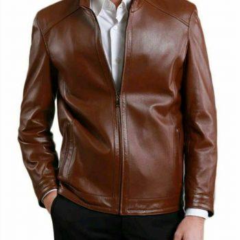 Jacket Leather S Men Biker Vintage Harley Real Motorcycle Coat Tan Genuine B1