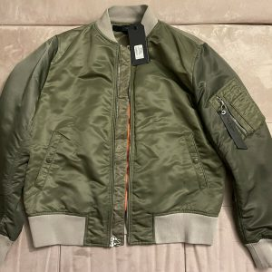 Men's Rag & Bone Manston Bomber Jacket Army Green Colorblock Large NWT