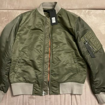 Men's Rag & Bone Manston Bomber Jacket Army Green Colorblock Large NWT