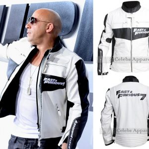Fast and Furious 7 Dominic Toretto Vin Diesel White