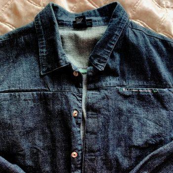Genuine DIESEL Black Denim Jacket Men's XL Excellent Condition