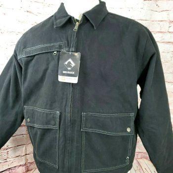 Dri Duck Men Flint Cotton Canvas Jacket Full Zip Heavy Duty Work Wear Black New