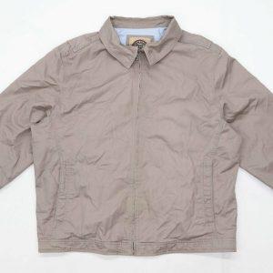Blue Harbour Mens Size XL Cotton Striped Brown Jacket