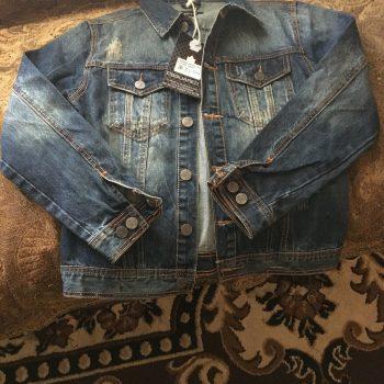Denim Distressed Men's Jacket Size Small