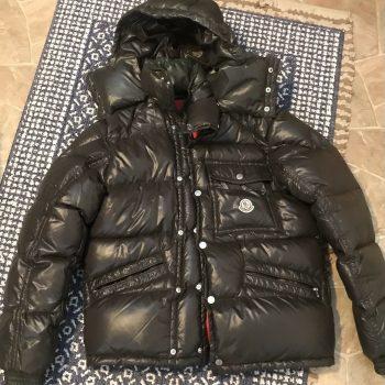 Moncler men's Puffer Jacket Ash Brown 1 Small!