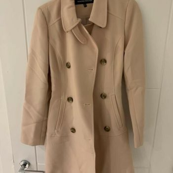 warehouse coat size 6 With Belt Detail