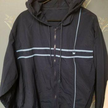 Mossimo Full Zip Blue Hooded Hoodie Jacket