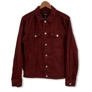 Forever 21 Mens Dark Red Casual Jacket Medium New With Tags