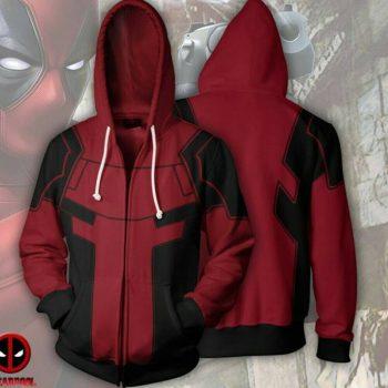 Avengers Infinity War Deadpool Hoodie 3D Print Cosplay Jacket