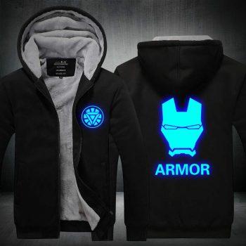The Avengers Iron Man Hoodie winter warm Jacket