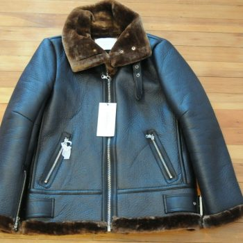 Authentic Zara Black/Brown Faux Shearling Jacket! Size XSmall!