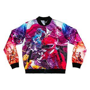 Chalkline Power Rangers Retro Reverse Fanimation Jacket Size Large