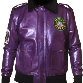 Batman Henchmen Joker Goon Purple Bomber Jacket