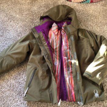 Spyder Stunner 3 In 1 Ski Snowboard Coat Hood & Reversible Jacket Girls