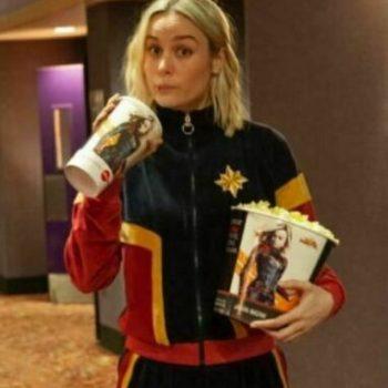 New Captain Marvel Carol Danvers Stylish Bomber Jacket