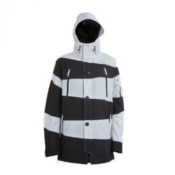 SPRAYGROUND Phantom Slashes Black White Parka Jacket