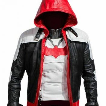Batman Game Red Hood Real Leather Jacket