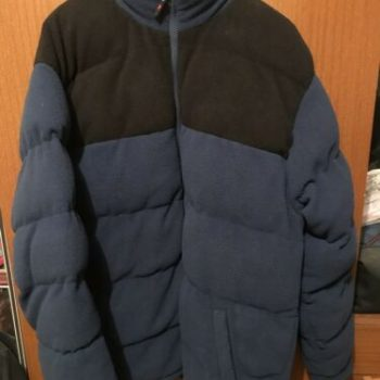 mens puffer jacket Large - Duke navy & black