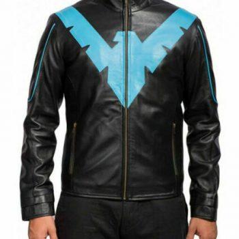 Men's Leather Jacket Genuine Lambskin Batman Jacket