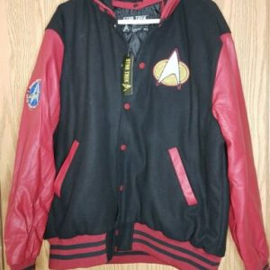 Star Trek Starfleet Men's Embroidered Varsity Jacket