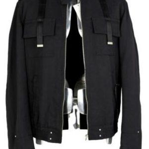 John Richmond Black Cotton Jacket Medium EU48 £825 Black