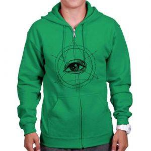 All Seeing Illuminati Eye Adult Zip Hoodie Jacket