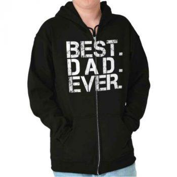 Best Dad Ever World Greatest Gift Men's Zip Hoodie Jacket