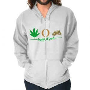 Lucky Pot Of Gold St Patricks Day Patty Irish Adult Zip Hoodie Jacket Sweatshirt